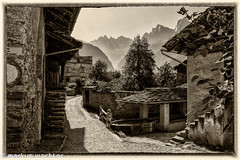 Bregaglia-10 (MarkusGW) Tags: bw bergell bregaglia europe graubnden jahreszeit saatchiupload schweiz season soglio sommer summer switzerland westerneurope world environment flickr flickrcom internet landscape mountain publication remark vintage wwwflickrcom