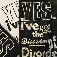 Disorder of Disorder (t-shirts) (Miss Mini Graff) Tags: disorder mca artbar yes disorderofdisorder poster posters letraset tshirts minigraff museumofcontemporaryart sydney australia