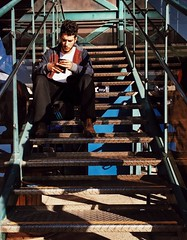 Sitting Staircase Full Length Men Adult Railing Steps One Person One Man Only Adults Only Young Adult People Only Men Outdoors Eye4photography  Style Mytrainmoments Mydtrainmoments Exploring Style (dinalfs) Tags: sitting staircase fulllength men adult railing steps oneperson onemanonly adultsonly youngadult people onlymen outdoors eye4photography style mytrainmoments mydtrainmoments exploringstyle