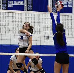 vballsouthington-BR-110216_1259 (newspaper_guy Mike Orazzi) Tags: 70200mmf28gvr volleyball sports nikon d500 tollandhighschool southingtonhighschool indoorsports availablelight highiso girls net court