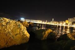 El postiguet (alexsv92) Tags: playa beach noche night rocas long exposure exposicion