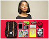 Joy Diptych (J Trav) Tags: persona portrait whatsinyourbag theitemswecarry showusthecontentsofyourbag diptych atlanta woman