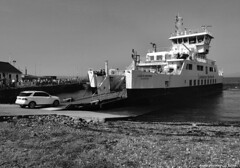 Scotland west coast Largs car ferry Loch Shira loading cars for the island of Cumbrae 16 August 2016  by Anne MacKay (Anne MacKay images of interest & wonder) Tags: scotland west coast largs caledonian macbrayne car ferry loch shira loading cars monochrome blackandwhite passenger ship xs1 16 august 2016 picture by anne mackay