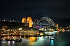 Sydney | Habour Bridge At Night (kenneth chin) Tags: water sydneyharbourbridge nikon d810 nikkor 2470f28g city australia nsw sydney bridge landmark attraction yahoo google