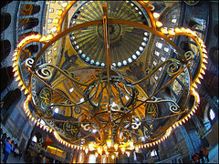 (2394) Hagia Sophia (Istanbul) Fisheye world (QuimG) Tags: hagiasophia istanbul turkey golden architecture arquitectura mosque church fisheye art olympus quimg quimgranell joaquimgranell afcastelló specialtouch obresdart