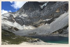/    Mt. Xia Nuo Duo Ji  (5958M) and Mike Lake (C. Alice) Tags: 318  china  tibet  sichuan 2015 clouds blue summer travel asia snowmountain iphone6 favorites50
