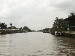 Downstream (program monkey) Tags: downstream vietnam mekong river delta cargo boat ben tre tra vinh palm tree