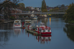 Autumnal serenity on the River Dee (foto.pro) Tags: chester river dee water boats autumn dusk