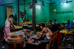 Good Luck Hotel (SlickSnap Steve) Tags: nikon d750 steve beckett street people india hotel streetphotography 2016 kolkata