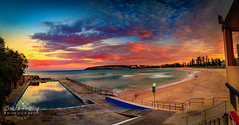 Evening at Queenscliff Beach Panoramica (Simon Pratley) Tags: atardecer australia beach canon clouds coast costa goldenhour landscape leefilters longexposure manlybeach northernbeaches nubes ocean outdoor panorama panoramic picina pinksky playa pool queenscliff queenscliffbeach seascape simonpratleyphotography sky surf sydney urbanscape wave lacosta