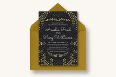 New Years Wedding Invitation Suite (inspiration_de) Tags: black graphicdesign invitation typography wedding