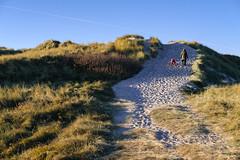 Hill Climbing (Poul_Werner) Tags: danmark denmark familie klegod 53mm beach dune family hav klit ocean sea shadow skygge sollys strand sunlight ringkbing centraldenmarkregion dk