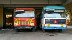 BT 3393 Lingnoor - mumbai & BL 3634 Majalgaon - mumbai (yogeshyp) Tags: msrtc st msrtcparivartanbus msrtchirkanibus msrtcsemiluxurybus gadhinglajstbus