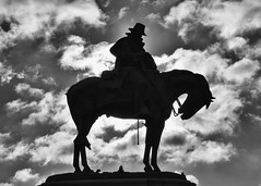 Statue, Belle Isle, Detroit (Images by Walter Lesus) Tags: belle isle detroit michigan statue clouds soldier horse