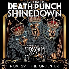 Syracuse, NY! It's your turn to see #Shinedown, #5FDP, #SixxAM and #AsLions at The Oncenter War Memorial Arena! Who's going to the show?! Show info: http://www.oncenter.org/event/five-finger-death-punch-shinedown (ShinedownsNation) Tags: shinedown nation shinedowns zach myers brent smith eric bass barry kerch