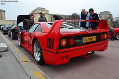 Ferrari F40 (Monde-Auto Passion Photos) Tags: auto automobile ferrari f40 rouge coup france rally paris evenement supercar sportive ancienne
