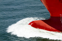 Bow Wake (hp181san) Tags: water ship outdoor houston maritime nautical channel tanker bowwake