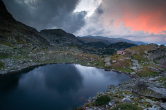 Rila/Bulgaria (Vilian Raychev) Tags: park light sunset summer sky cloud mountain nature water colors rock clouds landscape minolta outdoor sony ngc lakes bulgaria rila filter national seven lee nd gradient alpha thunder 1735 a850 km1735 dslra850 alphaforumnet