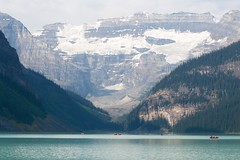 Lake Louise (kylewagaman) Tags: park mountain lake canada ice nature water outdoors nationalpark kayak canoe glacier alberta banff wilderness lakelouise victoriaglacier