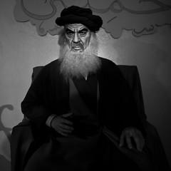 Ayatollah Khomeini, Grand Prairie Texas, 2011, Plate 3 (Thomas Hawk) Tags: bw usa texas unitedstates unitedstatesofamerica ripleys dfw waxmuseum ripleysbelieveitornot fav10 khomeini grandprairie ayatollahkhomeini ruhollahkhomeini dmudallas012011 louistussaudspalaceofwax louistussaudspalaceofwax