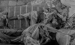 Life for him (IvanPhoto*) Tags: people blackandwhite bw white black river dark nikon asia sleep rich poor fresh dreaming resting dhaka bangladesh toughday nikonzoom d5200