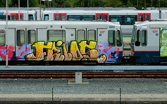 Graffiti (oerendhard1) Tags: urban streetart art graffiti rotterdam metro painted trains vandalism ret pitu guos