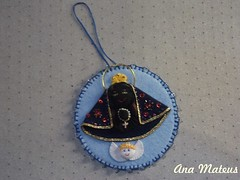 Nossa Senhora Aparecida (analuciamateus) Tags: handmade artesanato craft fuxico aparecida senhora nossa religioso