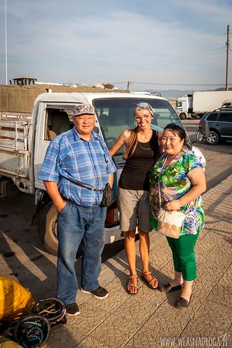 Przyjaźni Mongolczycy z którymi jechliśmy na stopa