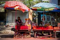 The vermillion shop (Binoy Bhushan) Tags: street kolkata streetvendor kalighat
