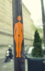 Naked Orange Woman (Kim Yokota) Tags: orange woman naked nikon bokeh streetphotography pole parisfrance nikond7000 nikonafsnikkor24mmf14ged
