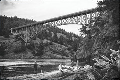 Deception Pass Bridge (Cornet, Washington) (Ken Lane Photography) Tags: sea blackandwhite bw usa mountain seascape tourism nature water monochrome clouds america vintage landscape geotagged outdoors island bay coast blackwhite washington nationalpark rocks unitedstates hill shoreline landmark cliffs coastal shore whidbeyisland pacificnorthwest northamerica pugetsound washingtonstate blacknwhite deceptionpass westcoast bnw strait washingtoncoast waterscape rockformation baw monochromeblackandwhite skagitcounty cornet washingtonisland evergreenstate cloudyday oakharbor travelphotography pacificcoastline historicallandmark nationalregisterofhistoricplaces hwy20 deceptionpassbridge deceptionpassstatepark fidalgoisland blackwhitephotos oakharborwashington pacificnorthwestcoast northwestus passisland nikond800 september2015 geo:lat=4840425278 geo:lon=12264685973 cornetwashington deceptionpassstrait macscover nikond800photography