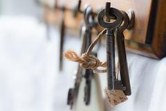 Keys (Pittypomm) Tags: old metal keys key tag string hooks macromondays oldestobjectyoucanfind