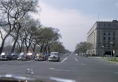 Constitution Ave. near 3rd, c. 1951 (rockcreek) Tags: washingtondc dc nw 1951 standardoilbuilding constitutionavenue essobuilding
