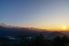 Sunrise at Sarangkot 1600m (Poxxel) Tags: nepal sunrise sonnenaufgang sarangkot