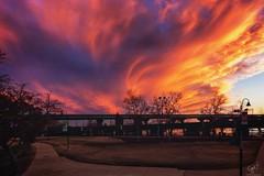 RVA sunset from Brown's Island (cpjRVA) Tags: sunset richmond va rva jamesriver brownsisland manchesterbridge canoneos6d mextures