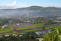 Legazpi city and airport, view from Ligon Hill, Legazpi, province of Albay, Philippines (Darius Travel Photography) Tags: pentax philippines filipinas pilipinas legaspi legazpi albay    pentaxk100dsuper  filipinai