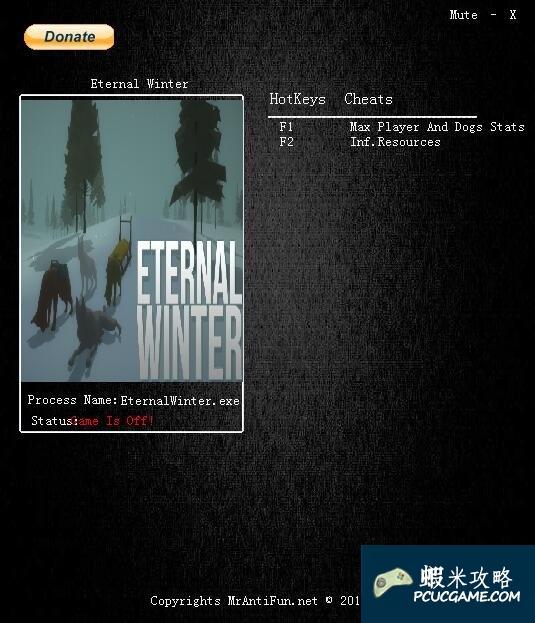 永恆之冬 v0.150兩項修改器MrAntiFun版