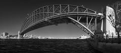 Sydney Harbour Bridge (J-C-M) Tags: sydney ir infrared bw monochrome blackandwhite water nsw australia harbour bridge sydneyharbourbridge stitch stitched panorama panoramic opera house sydneyoperahouse