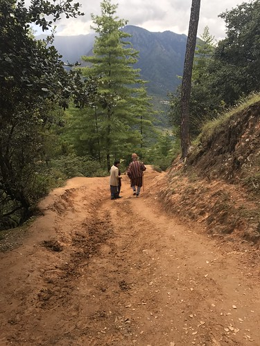 Hiking down from above Taktsang