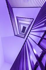 purple stairs (MyMUCPics) Tags: treppe treppenhaus mnchen 2016 september munich architektur architecture interior indoor design abstract abstrakt coloured stairs staircase