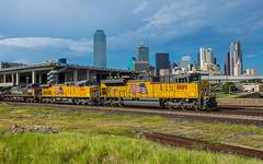 Balmy Dallas Afternoon (trnchsr1984) Tags: sd70ah texas dallas skyline city landscape