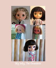 Silly Sally the chameleon (Blythe Spa Time) Tags: ebl custom blythe doll diy scalp swap hair db hw fp alpaca bangs curly straight sidepart