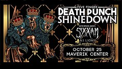 West Valley City, UT! It's your turn to see #Shinedown with #5FDP, #SixxAM and #ASLions! Who's going to the show?! Show info: http://www.maverikcenter.com/shared/event_detail.aspx?EventID=551725&WebLink=3E8.20D4952E&xml_path=undefined (ShinedownsNation) Tags: shinedown nation shinedowns zach myers brent smith eric bass barry kerch