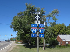 MI-063-I-94N (paulthemapguy) Tags: holland 63 94 i94 interstate michigan state route shield sign highway