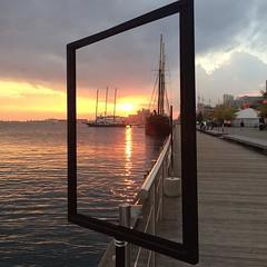 Harbour sunset #toronto #sunset #boat #water (iamwildunknown) Tags: project camera 365