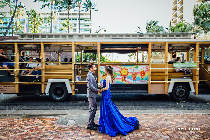 夏威夷婚紗,威基基海灘,Magic Island,中國城