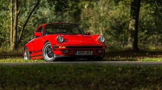 My 1983 Porsche 911 3.2 Carrera Sport at Clumber Park, Nottinghamshire in the Autumn Sun 17-10-2016