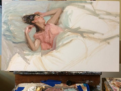 Work in progress for LA show with @kpprojectsgallery NOV, 12 (Dorian Vallejo) Tags: art fine drawing figure mixed media drawings oil painting dorian vallejo