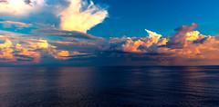 Ocean Sunset -3 (mithila909) Tags: ocean sea cloud reflection horizon sunset seascape