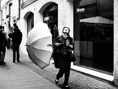 . (alb.montagna) Tags: street streetphotography streetportrait people portrait blackandwhite monochrome zuiko olympus rain rainyday